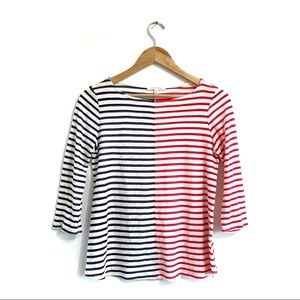 Anthropologie patriot striped top blue red white